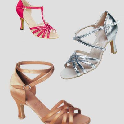 Дамски обувки за латино и спортни танци